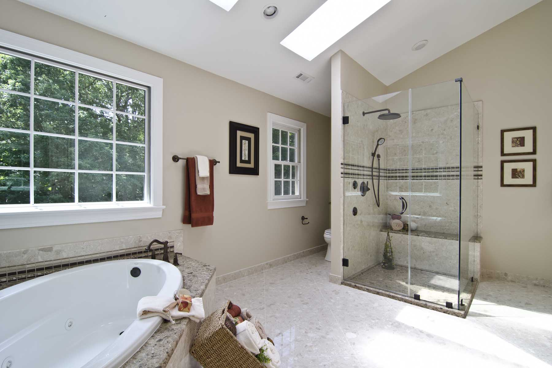 Master Bath in Verona Showers Marble Surfaces
