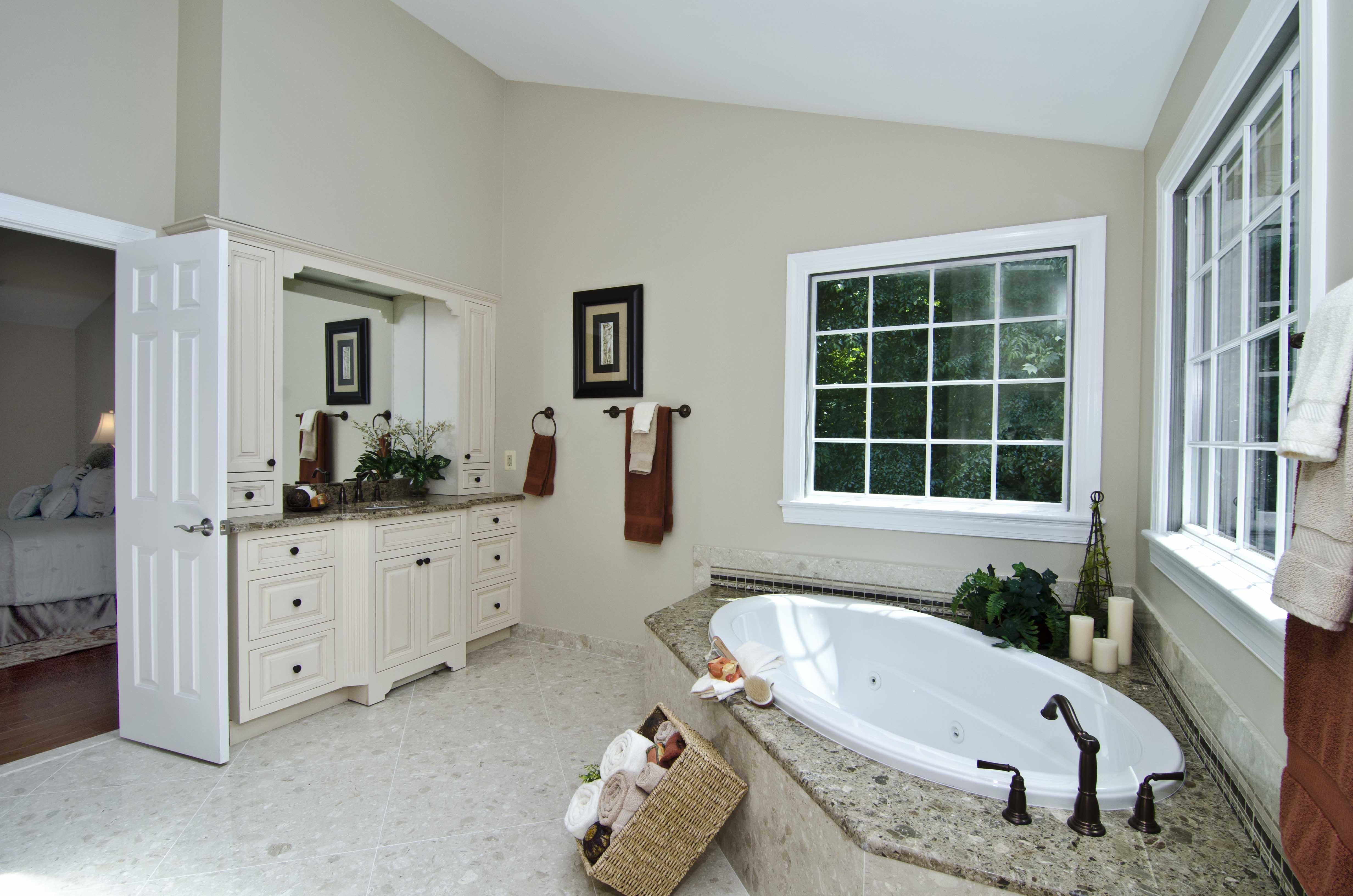 Verona Showers Tub Deck and Marble Floors
