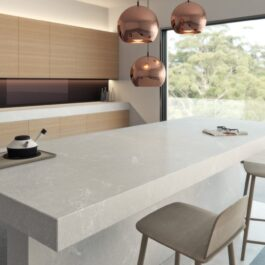 Caesarstone Alpine Mist Honed Quartz Countertops