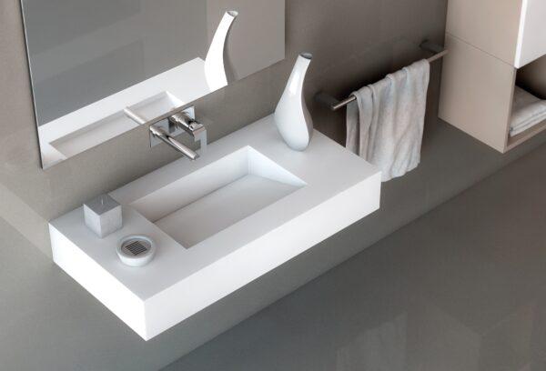 Silestone ARMONY Bath Vanity Sink in White Zeus