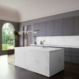 Caesarstone Empira White Quartz Countertops