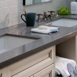 Caesarstone Pebble Honed Quartz Countertops