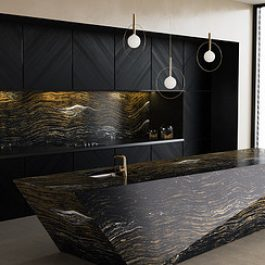 Cambria Golden Dragon Quartz Countertops