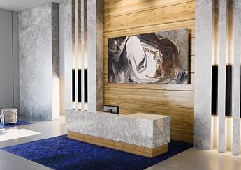 Cambria Myddleton Quartz Commercial Reception Desk