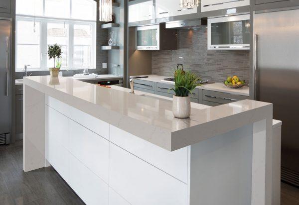 Q Premium Alabaster White Quartz Countertops