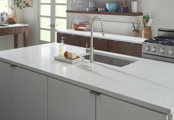Q Premium Arctic White Quartz Countertops