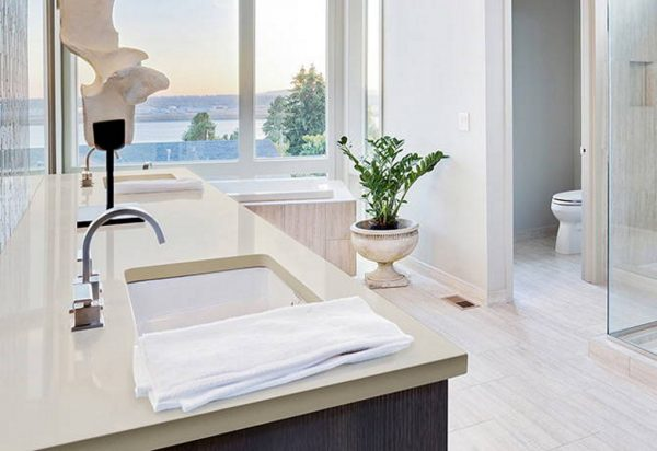 Q Premium Ash Gray Quartz Countertops