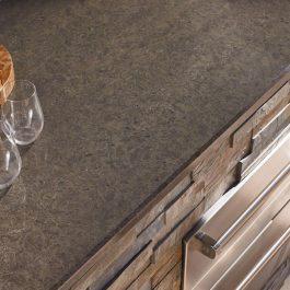 Q Premium Babylon Gray Concrete Quartz Countertops