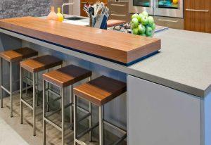 Q Premium Bianco Pepper Quartz Countertops