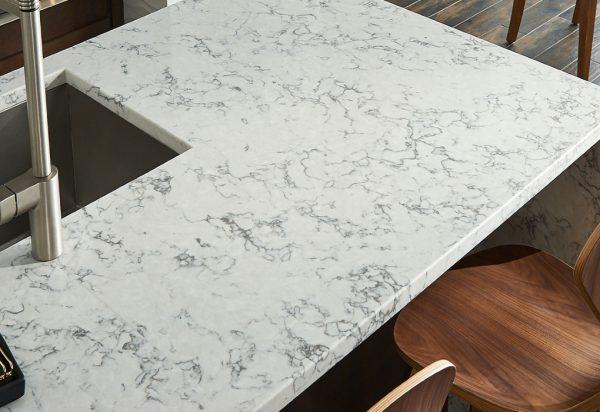 Q Premium Blanca Arabescato Quartz Countertops