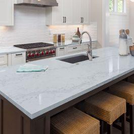 Q Premium Calacatta Naples Quartz Countertops