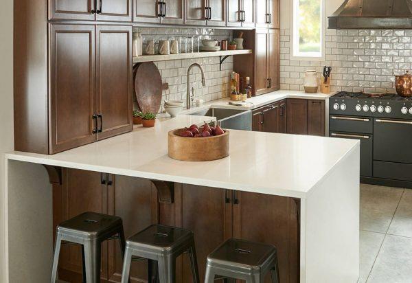 Q Premium Calico White Quartz Countertops