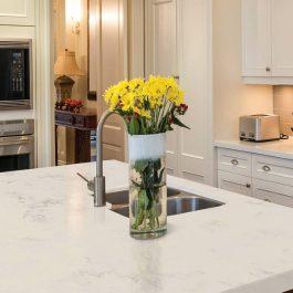 Q Premium Carrara Grigio Quartz Countertops