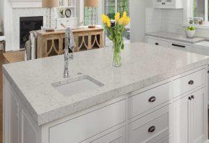 Q Premium Carrara Mist Quartz Countertops