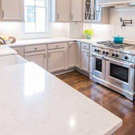 Q Premium Cashmere Carrara Quartz Countertops