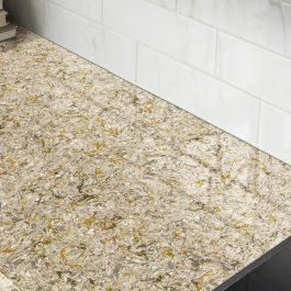 Q Premium Chantilly Taupe Quartz Countertops