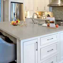 Q Premium Fossil Gray Quartz Countertops