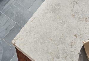 Q Premium Gray Lagoon Concrete Quartz Countertops