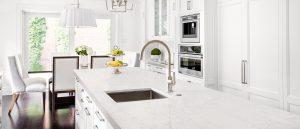 Q Premium Lido Blanco Quartz Countertops