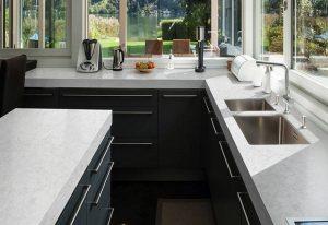 Q Premium Pelican White Quartz Countertops