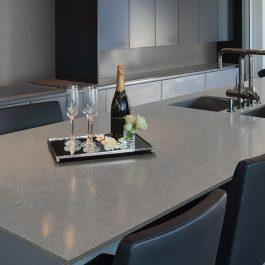 Q Premium Vena Carbona Quartz Countertops