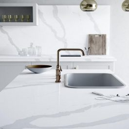 Silestone Bianco Calacatta Quartz Countertops