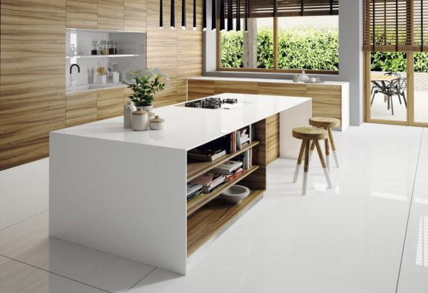 Silestone Iconic White Suede Quartz Countertops