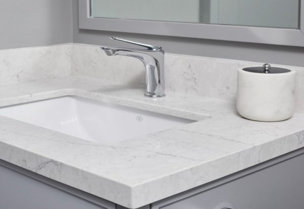 Silestone Jasmine Quartz vanity Countertops