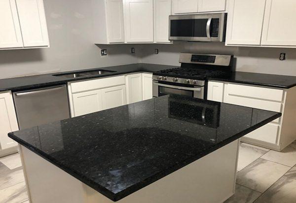 Silestone Tebas Black Quartz Countertops