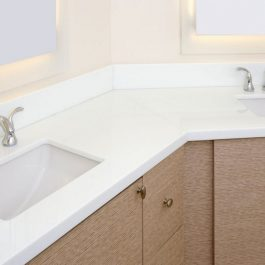 Viatera Porcelain White Quartz Countertops