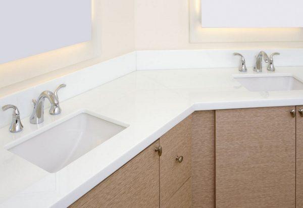 Viatera Porcelain White Quartz Countertops